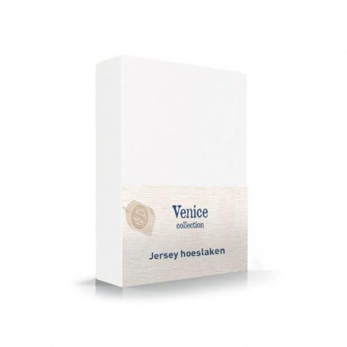 Jersey hoeslaken wit 100% katoen
