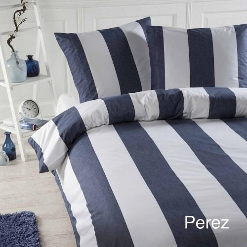 dekbedovertrek Perez blauw