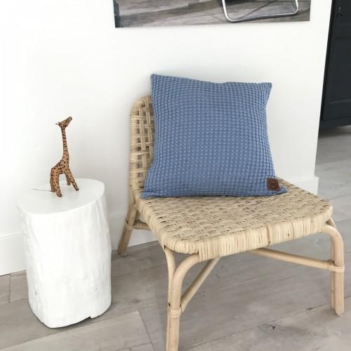 Plaid Aimy oud blauw 150×200
