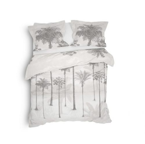wit dekbedovertrek palmbomen