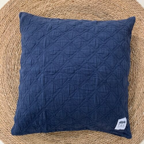 kussenhoes Iris blauw 50x50