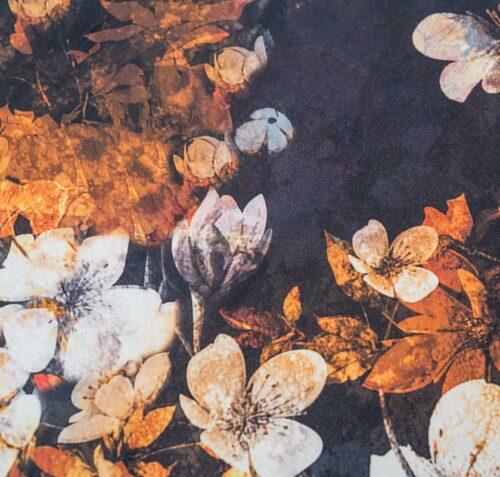 biologisch dekbedovertrek Senji oranje zwart
