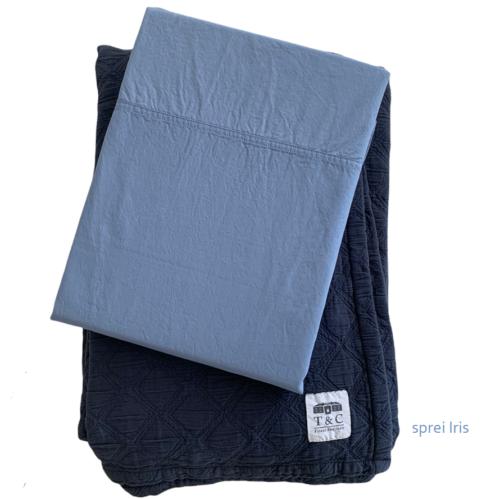 percal stonewashed Austin blauw